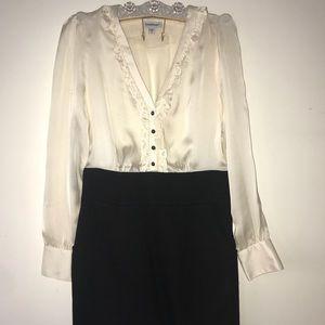 Bebe Mini Sheath Dress Cream & black  Size M (6)